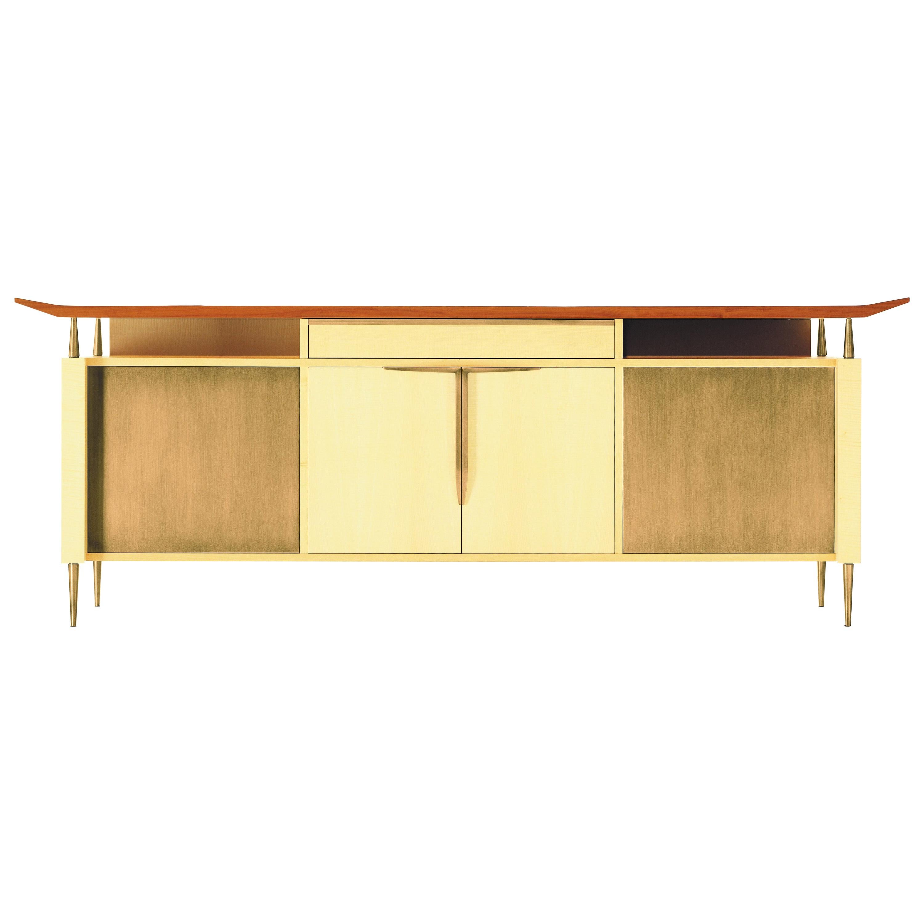 Oak Design Credenza Sideboard By Luca Scacchetti For Sale At 1stdibs