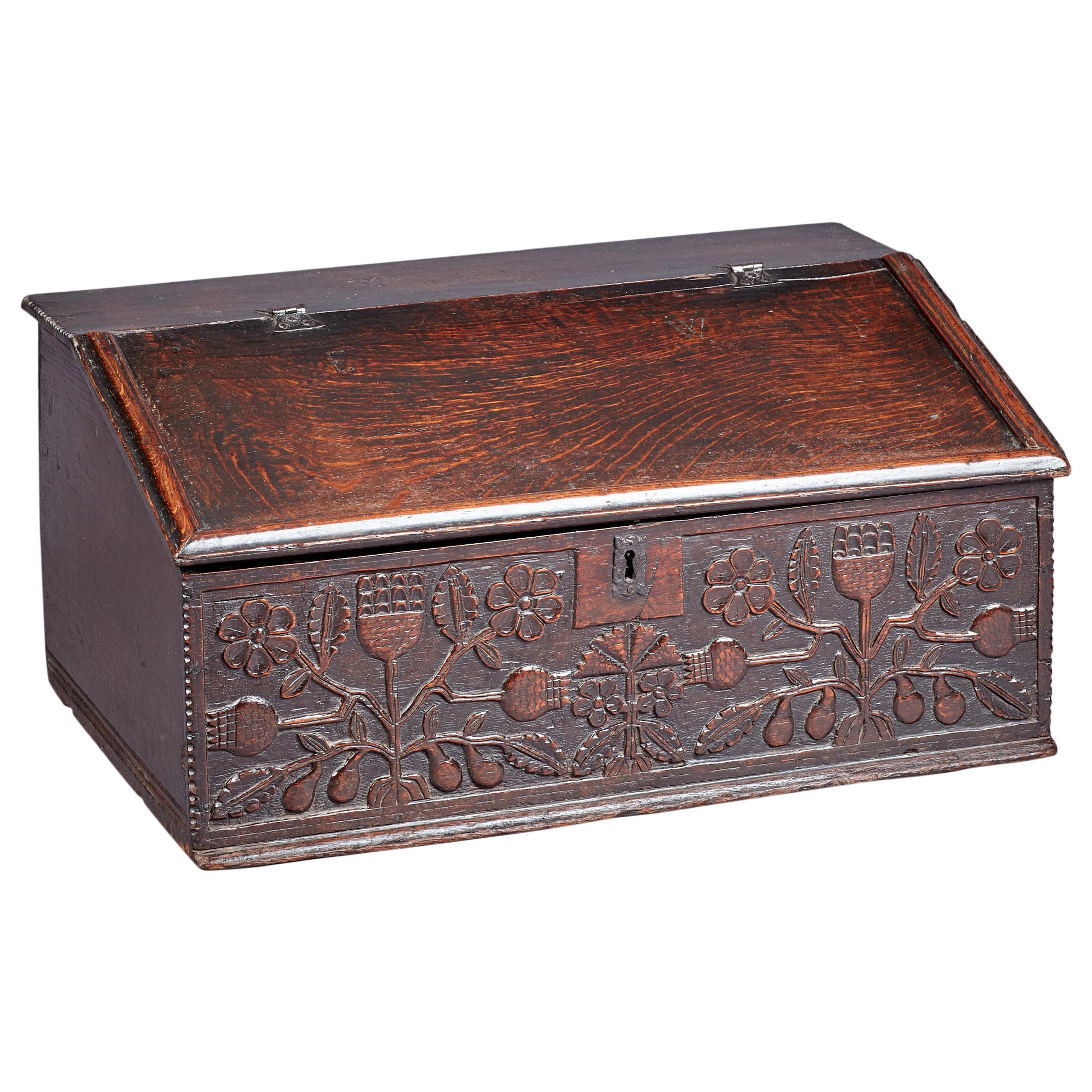 Oak Desk Box, Charles II period, Lancashire, circa 1660-1670