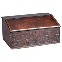 Oak Desk Box, Charles II period, Lancashire, circa 1660-1670