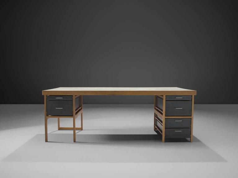 Swiss Benedikt Rohner for Oswald Oak Executive Desk For Sale