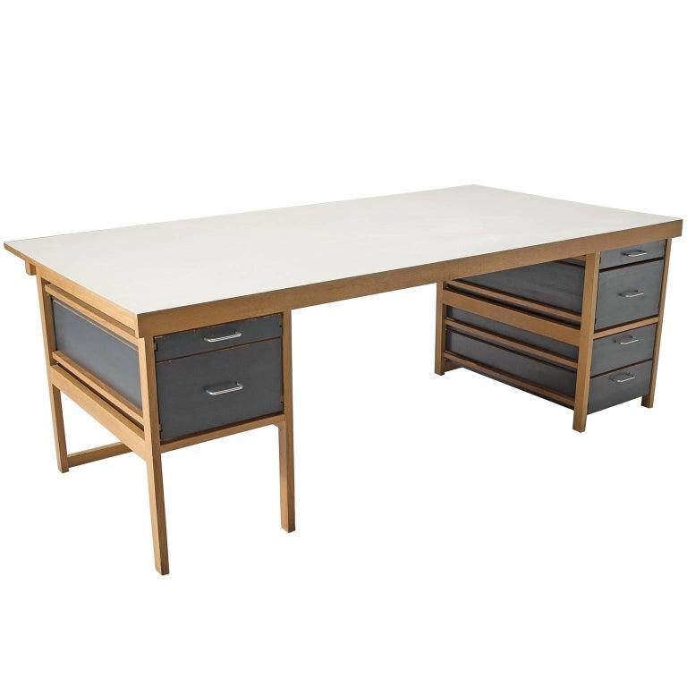 Benedikt Rohner for Oswald Oak Executive Desk For Sale