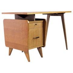 Oak desk S.A.M., France, 1950