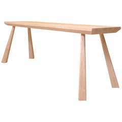 Oak Dining Bench, Handcrafted, Bibbings & Hensby
