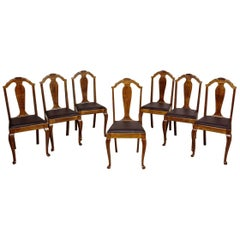 Oak Dining Chairs Suite, circa 1930