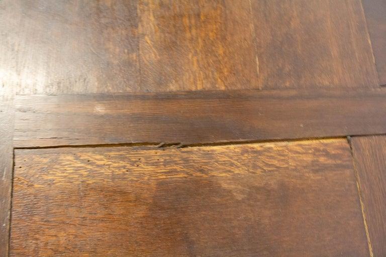 Oak Dining Table Basque Spanish Renaissance Revival Refectory Extends Midcentury For Sale 6