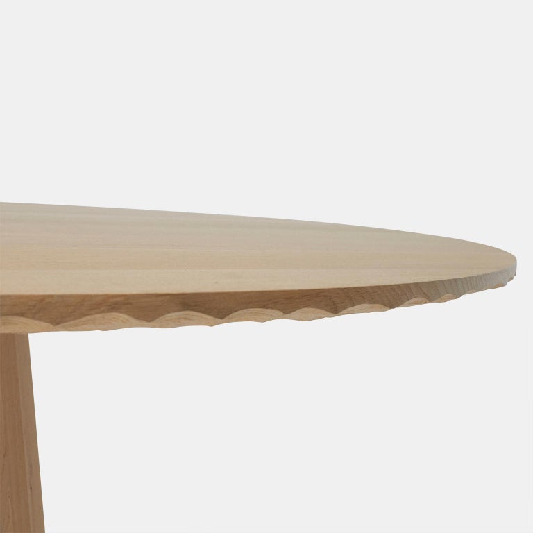 Oak Dining Table by Kaspar Hamacher In Excellent Condition For Sale In San Francisco, CA
