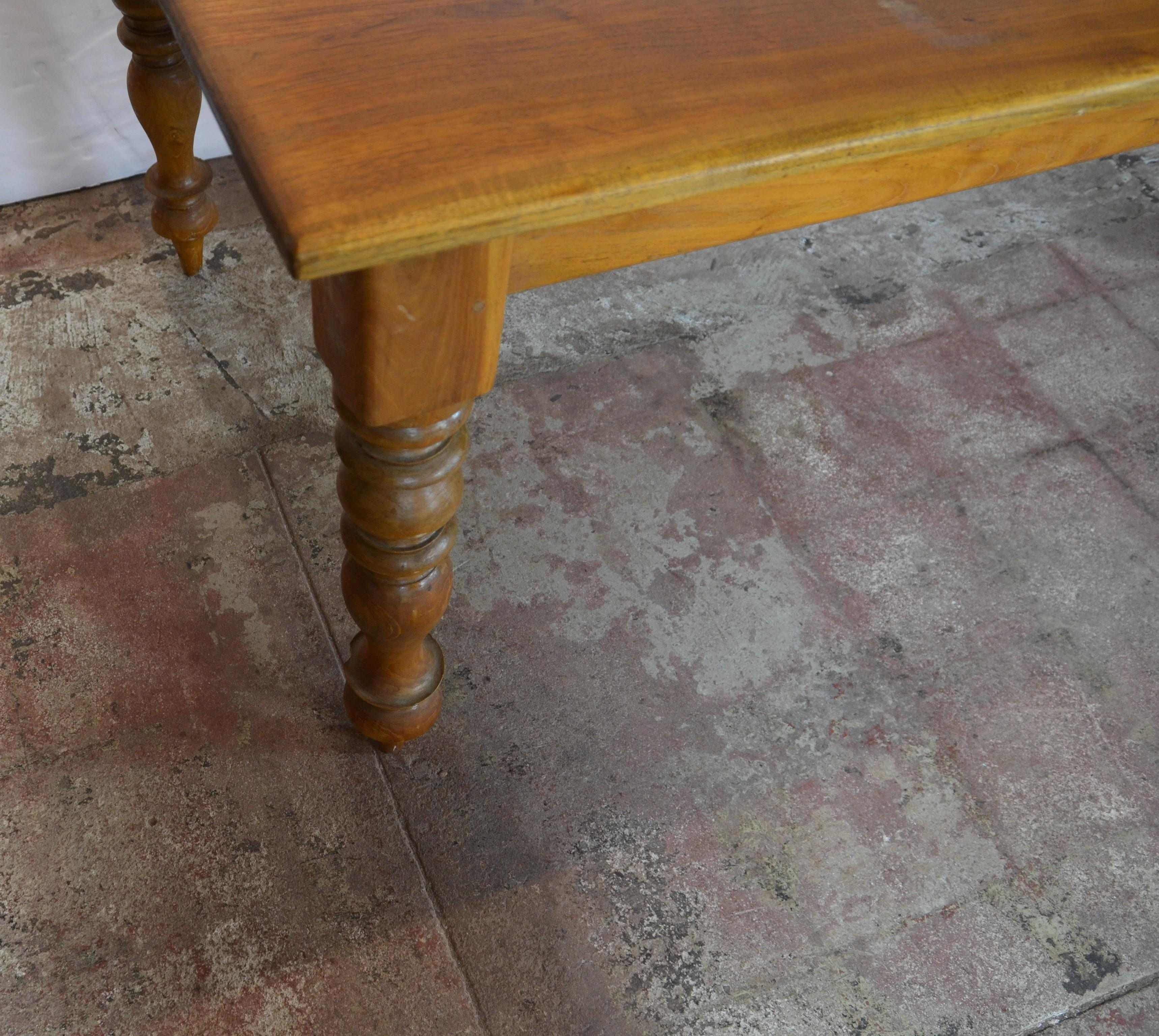 American Oak Dining Table For Sale