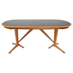 Gio Ponti Style Oak Dining Table