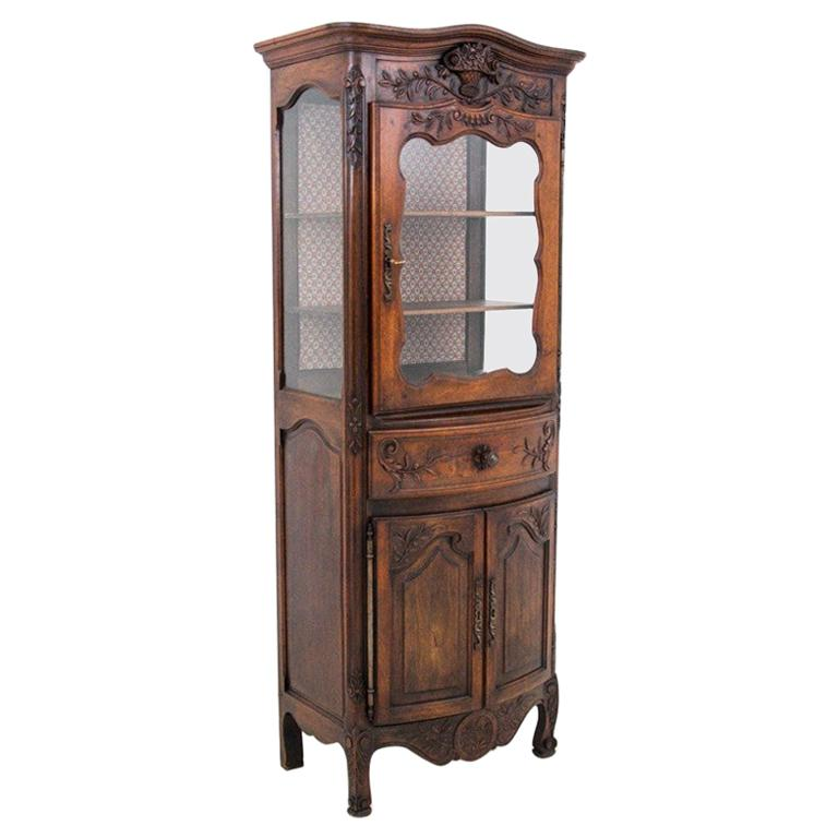 Oak display cabinet, France, around 1890