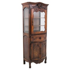Oak display cabinet, France, around 1890