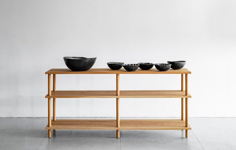Oak Dowel Console In New Condition For Sale In Los Angeles, CA