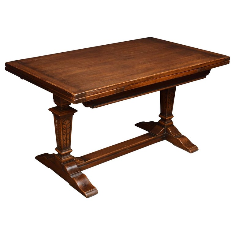 Oak Draw Leaf Refectory Table At 1stdibs