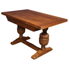 Oak Draw Leaf Refectory Table