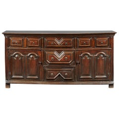Oak Dresser Base, Charles II / William & Mary period, English, circa 1680-1690