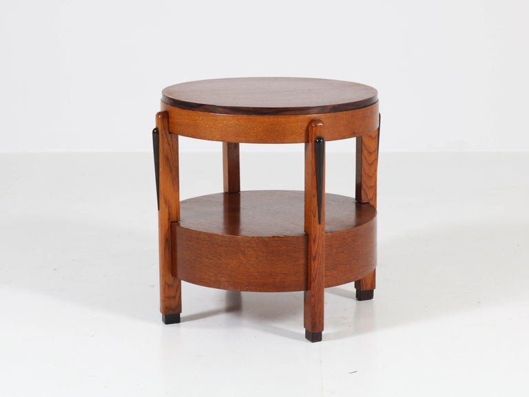 Elegant Art Deco Amsterdam school coffee table.
