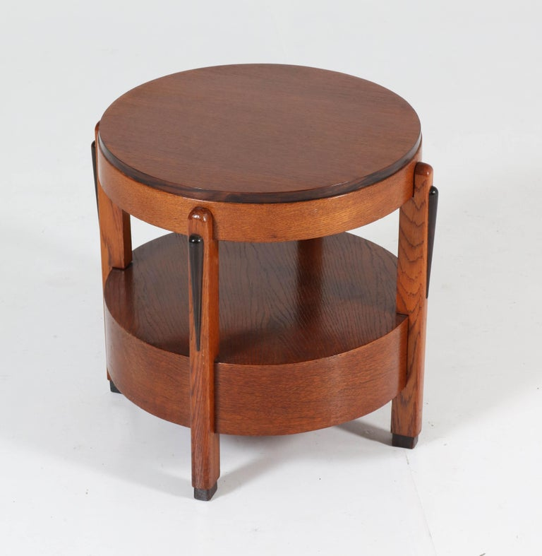 Oak Dutch Art Deco Amsterdam School Coffee Table, 1920s For Sale 1