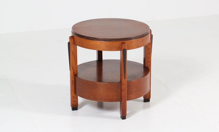 Oak Dutch Art Deco Amsterdam School Coffee Table, 1920s For Sale 2