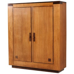 Oak Dutch Art Deco Haagse School Armoir or Wardrobe by Anton Lucas, 1920s