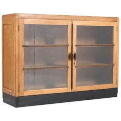 Oak Dutch Art Deco Haagse School Bookcase, 1920s