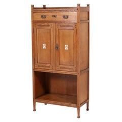 Oak Dutch Art Nouveau Arts & Crafts Cabinet by Onder den Sint Maarten, 1900s