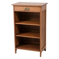 Oak Dutch Art Nouveau Jugendstil Open Bookcase, 1900s
