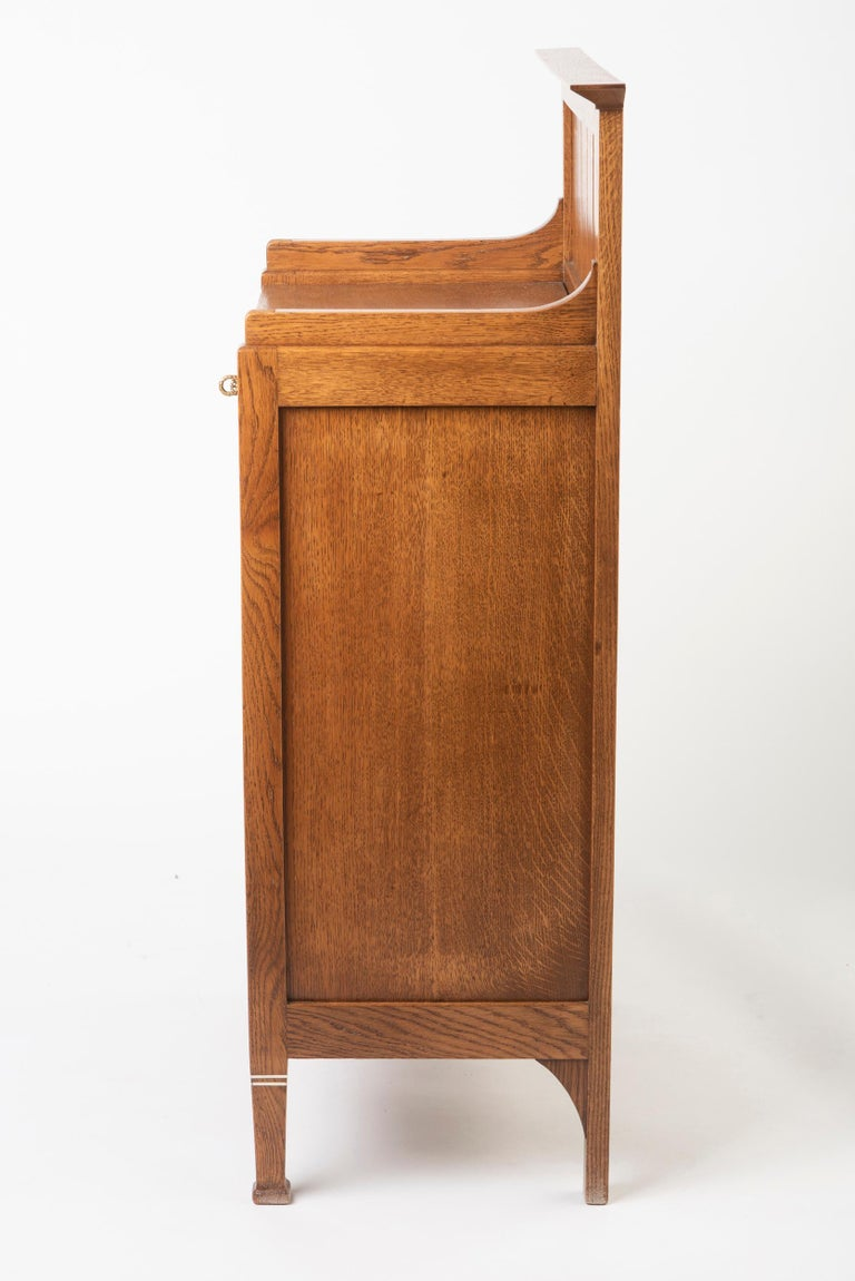 Early 20th Century Oak Dutch Secessionist Music Cabinet, Holland, circa 1900 For Sale