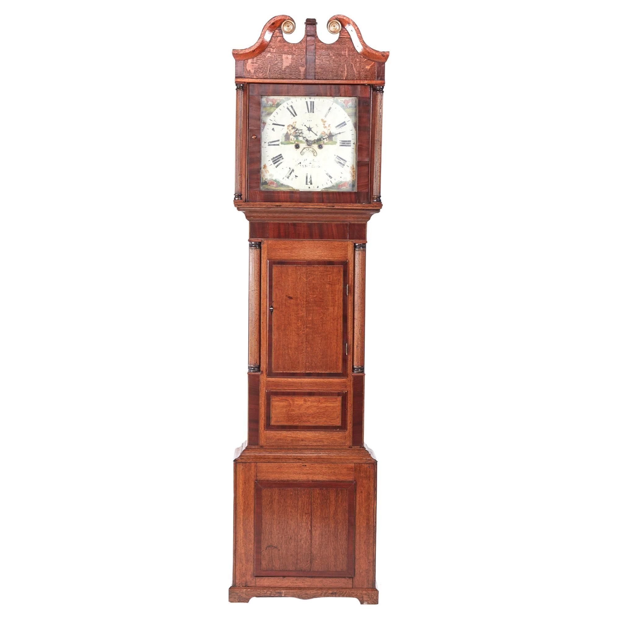 Oak Eight Day Longcase Clock