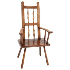 Oak English Country Armchair, 1900s