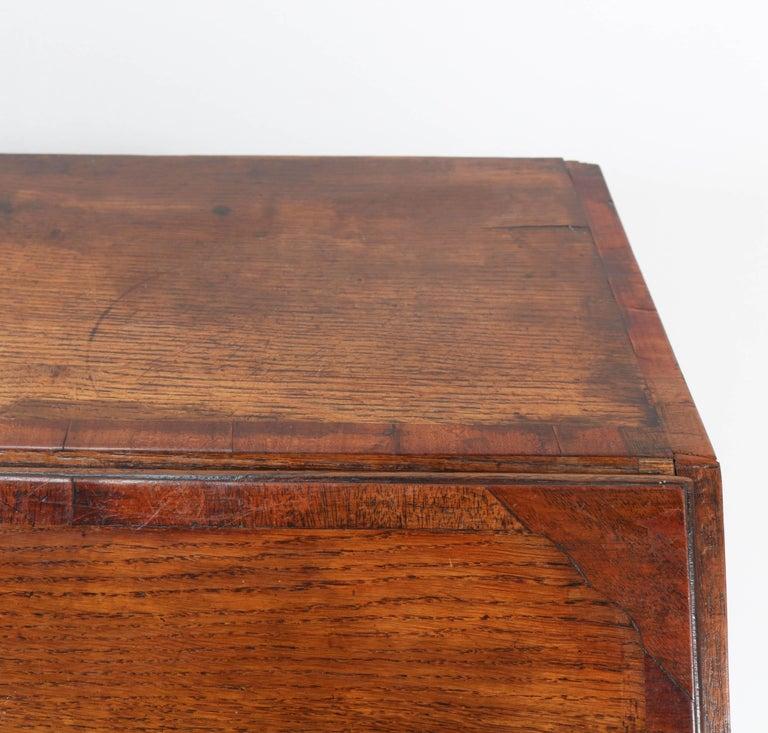 Oak English George III Slant Front Desk, Late 18th Century For Sale 6