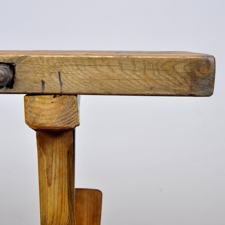 Oak Farmers Worktable, 1930s For Sale 3