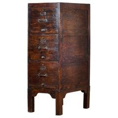 Oak Filing Cabinet, 1940s