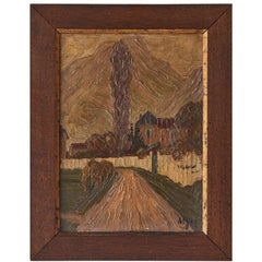 Oak Framed Dutch Oil Painting