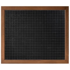 Oak Framed Slate Chalkboard, England, circa 1920