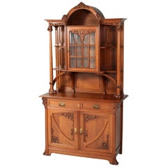 Oak French Art Nouveau Buffet in the Style of Louis Majorelle, 1900s