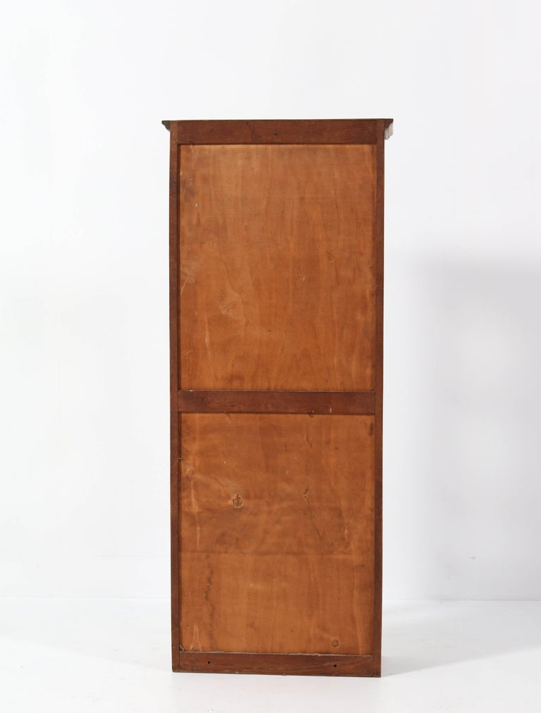 Oak French Art Nouveau Wall Display Cabinet, 1900s For Sale 4