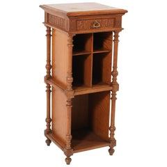 Oak French Henri II Cabinet, Late 19th Century