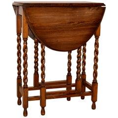 Oak Gateleg Side Table, circa 1900