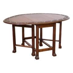 Oak Gateleg Table with Reeded Legs