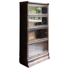 Oak Globe Wernicke Five Sections Bookcase
