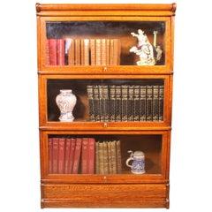 Oak Globe Wernicke Stacking Bookcase 3 Large Elements