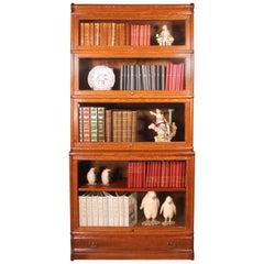 Oak Globe Wernicke Stacking Bookcase 4 Large Items