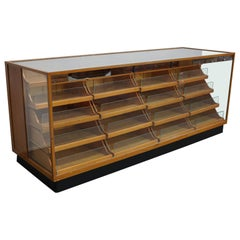 Oak Haberdashery Shop Cabinet/Retail Unit, 1950s