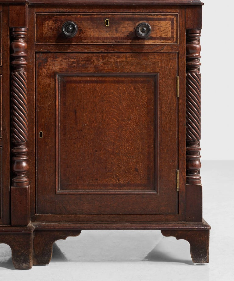 Late 18th Century Oak Housekeepers Cupboard, circa 1790 For Sale