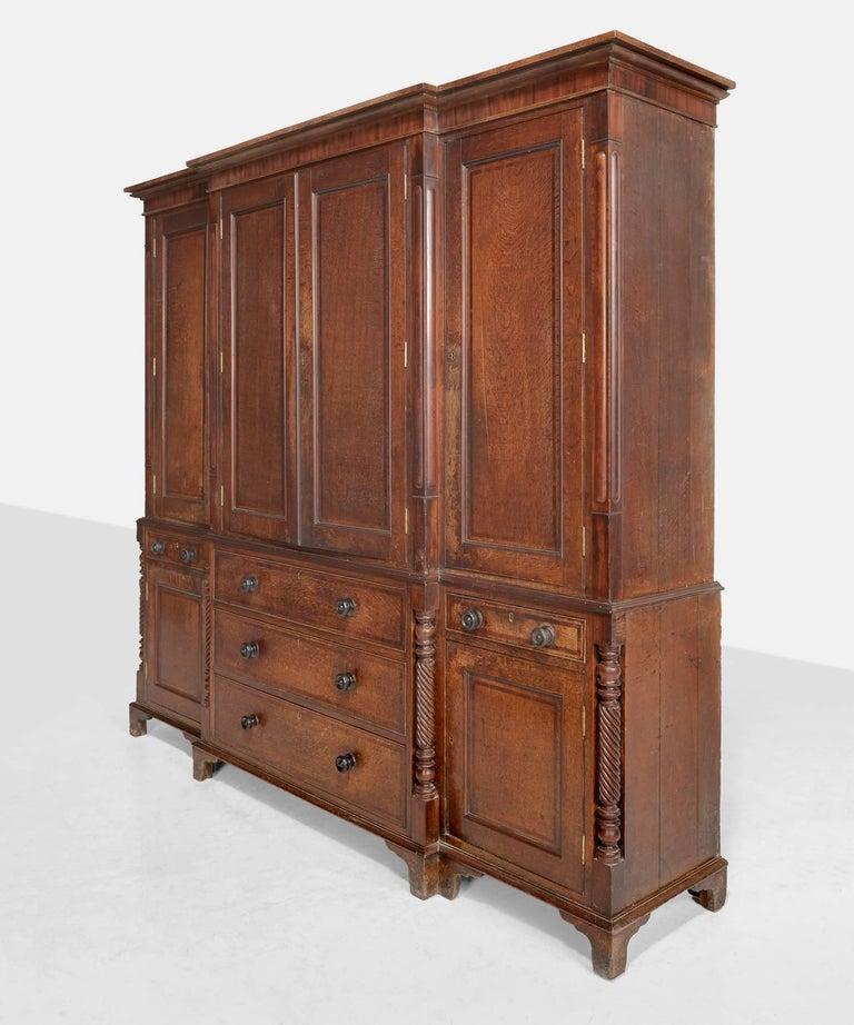 Mahogany Oak Housekeepers Cupboard, circa 1790 For Sale