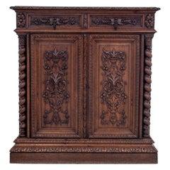 Oak Hunting Cabinet, France, circa 1890