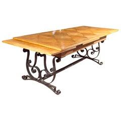 Oak & Iron Dining Table