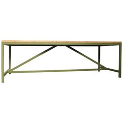 Oak and Iron Dining Table, Modern, 21st Century
