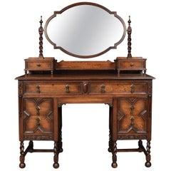 Oak Jacobean Style Dressing Table