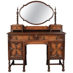 Oak Jacobean Style Dressing Table