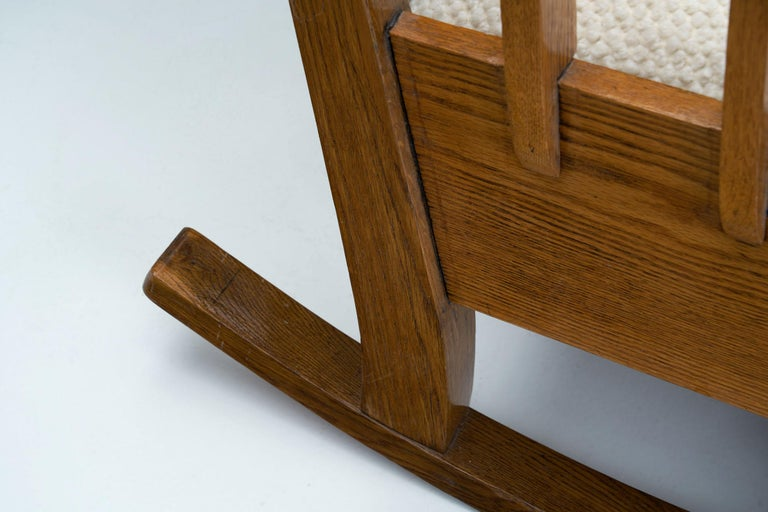 """Oak """"Jugend"""" Rocking Chair, Europe, circa 1920s For Sale 9"""